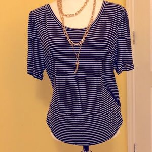 Black and white stripped H&M top size large